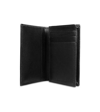 ERMENEGILDO ZEGNA: Credit Card Holder Black - Blue - 46325772FD