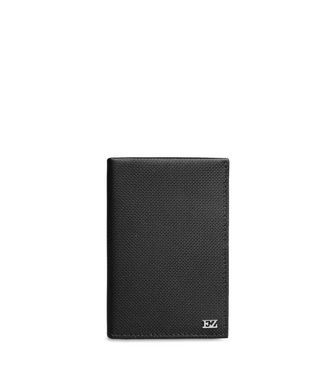 ERMENEGILDO ZEGNA: Credit Card Holder Black - 46325772FD
