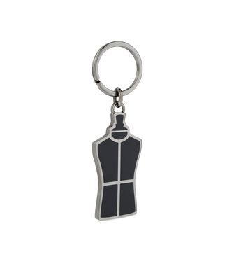ERMENEGILDO ZEGNA: Key ring Silver - 46325775JR