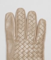 Walnut Intrecciato Nappa Gloves