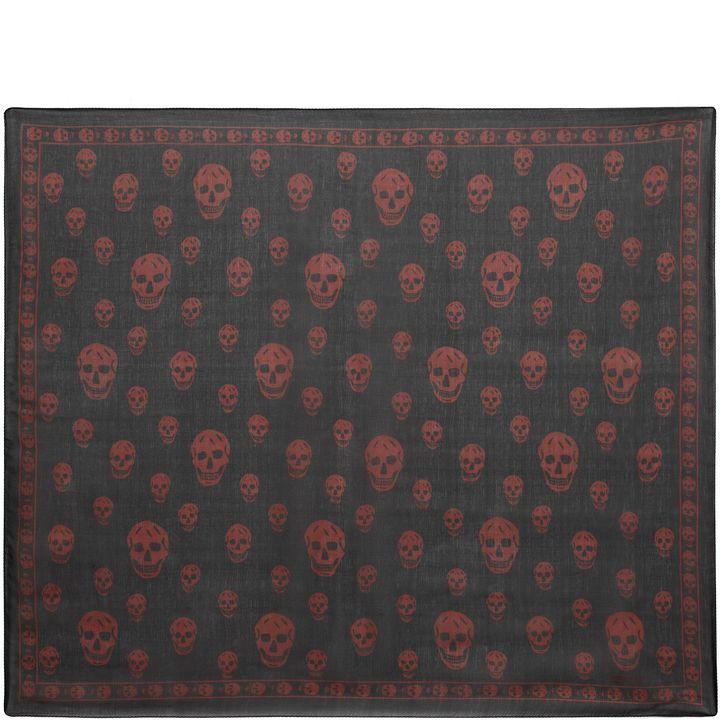 Alexander McQueen, Foulard classique imprimé Skull en mousseline de soie