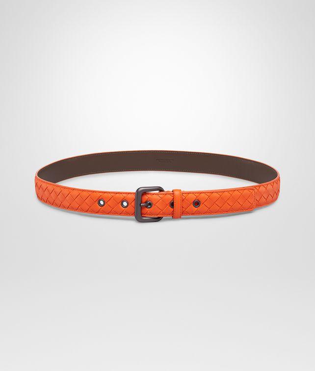 Tangerine Intrecciato Nappa Belt