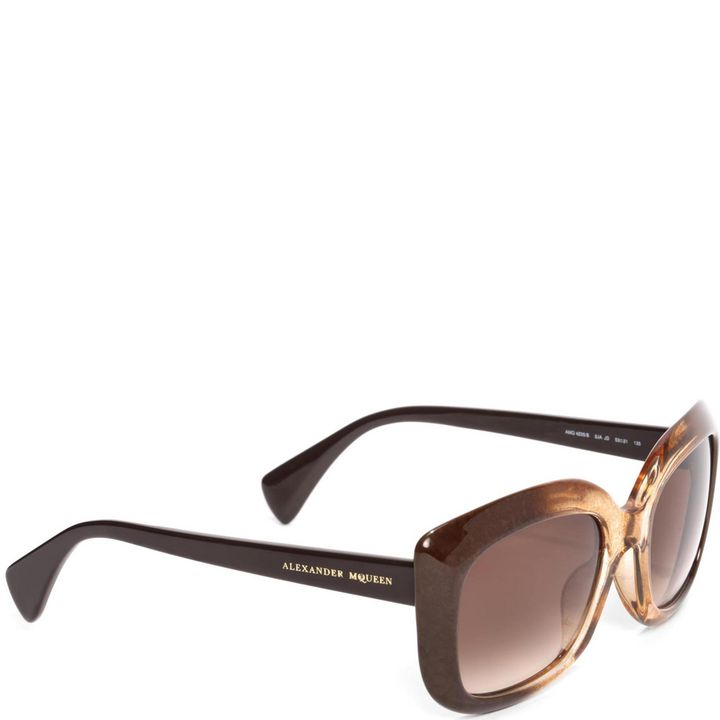 Alexander McQueen, Marbled Square Framed Sunglasses