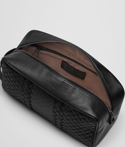 BOTTEGA VENETA - Nero Intreccio Imperatore Toiletry Case