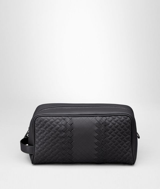 BOTTEGA VENETA BEAUTY CASE IN NERO INTRECCIO IMPERATORE Small bag U fp