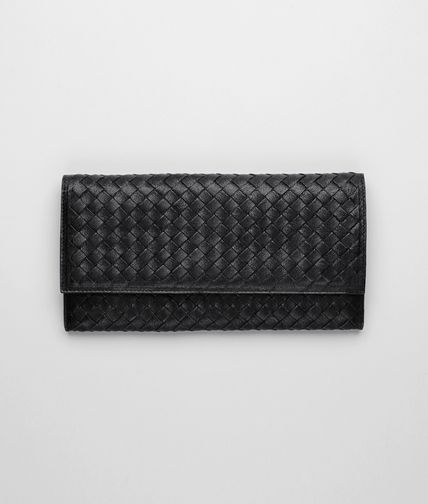 BOTTEGA VENETA - Nero Intrecciato Washed Lambskin Document Case
