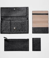 Nero Intrecciato Washed Lambskin Document Case
