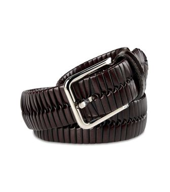 ERMENEGILDO ZEGNA: Belt Dark brown - 46327192OF