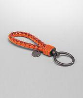 Schlüsselanhänger aus Ayers Livrea Intrecciato Tangerine