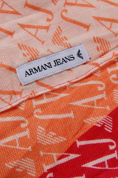 VISCOSE SCARF WITH ALL OVER LOGO: Stoles Women by Armani - 3
