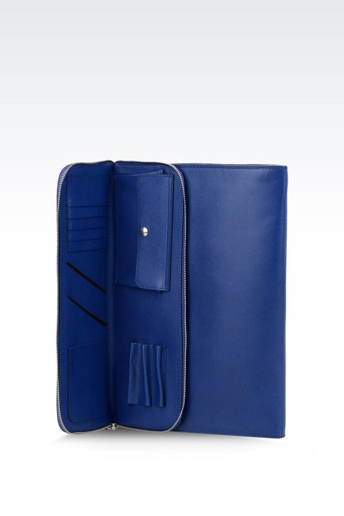 CALFSKIN DOCUMENT HOLDER : Document holders Men by Armani - 4