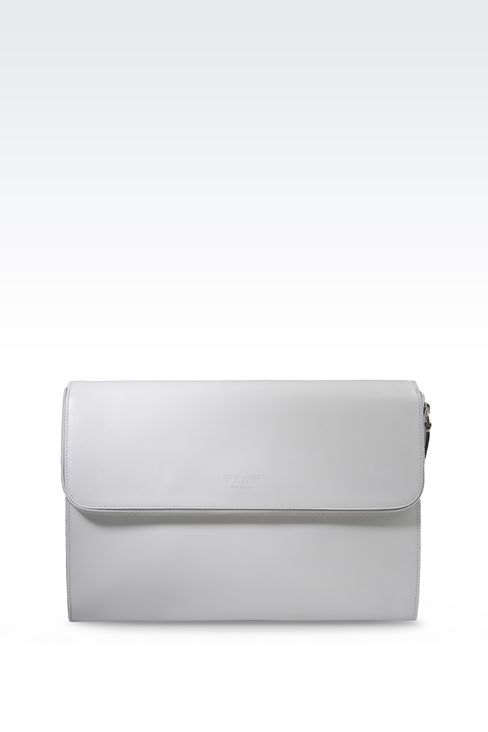 CALFSKIN DOCUMENT HOLDER : Document holders Men by Armani - 1