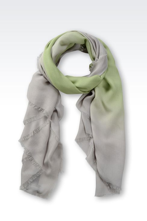 SCARF IN MODAL AND CASHMERE: Foulards Women by Armani - 1
