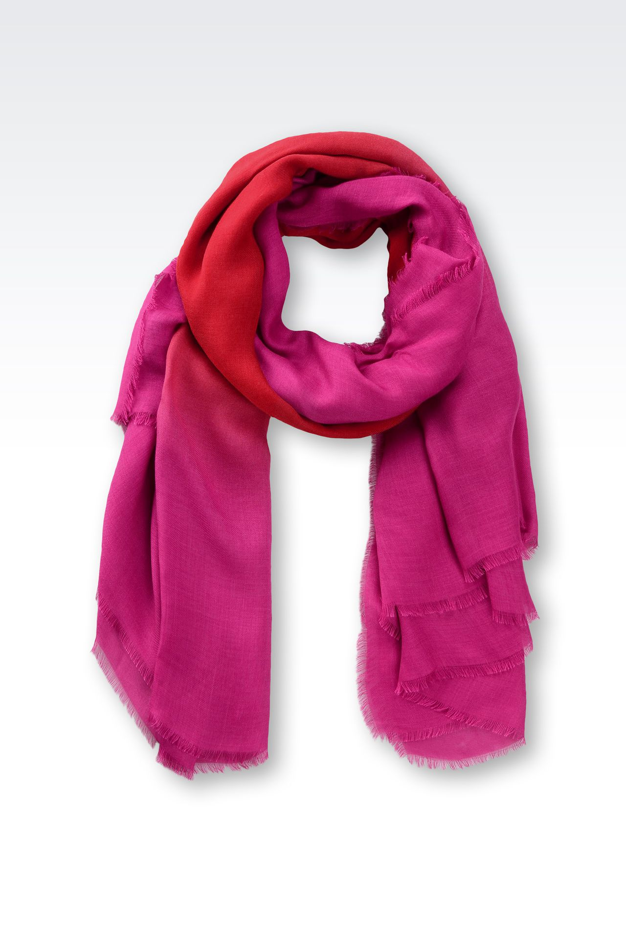 SCARF IN MODAL AND CASHMERE: Foulards Women by Armani - 0