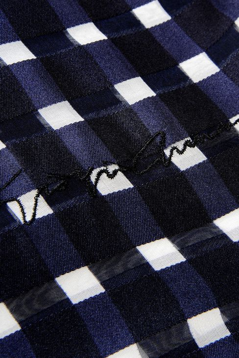 CHECKED SILK SCARF: Scarves Women by Armani - 3