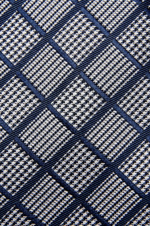 SILK TIE WITH MICRO-LOZENGE DESIGN: Ties Men by Armani - 3