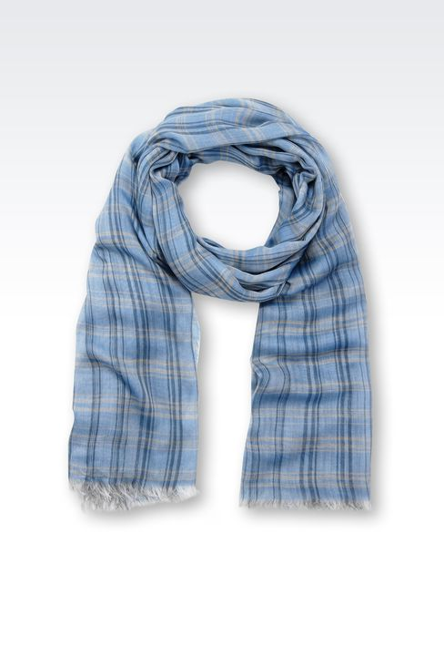 CHECKED MODAL STOLE: Stoles Men by Armani - 1