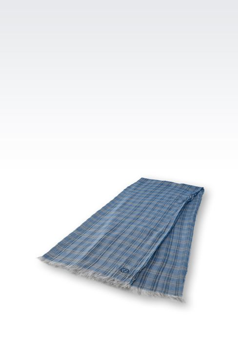 CHECKED MODAL STOLE: Stoles Men by Armani - 2