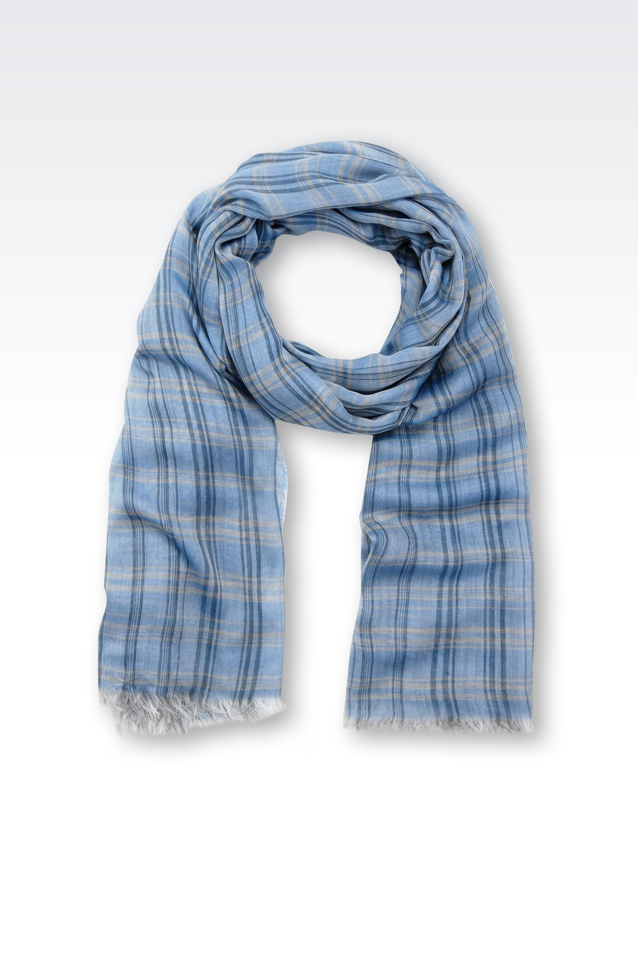 CHECKED MODAL STOLE: Stoles Men by Armani - 0