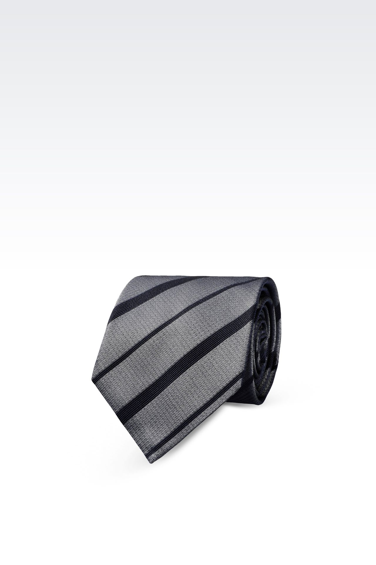 STRIPED SILK TIE: Ties Men by Armani - 0