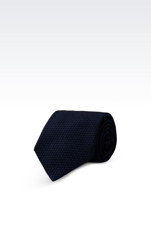 SILK TIE WITH ABSTRACT PATTERN: Ties Men by Armani - 1