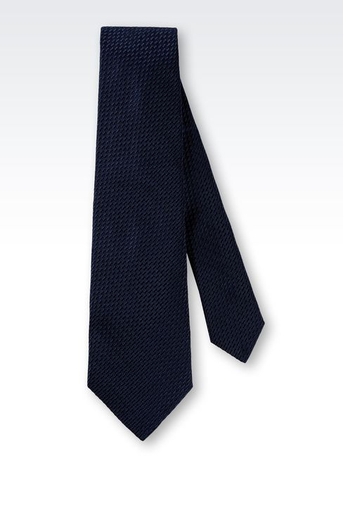 SILK TIE WITH ABSTRACT PATTERN: Ties Men by Armani - 2