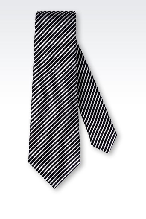 BI-COLOR STRIPED SILK TIE: Ties Men by Armani - 2