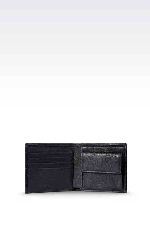 BI-FOLD WALLET IN LEATHER WITH COIN PURSE: Wallets Men by Armani - 3