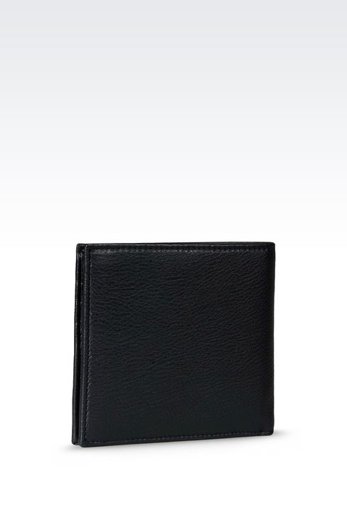 BI-FOLD WALLET IN LEATHER WITH COIN PURSE: Wallets Men by Armani - 2