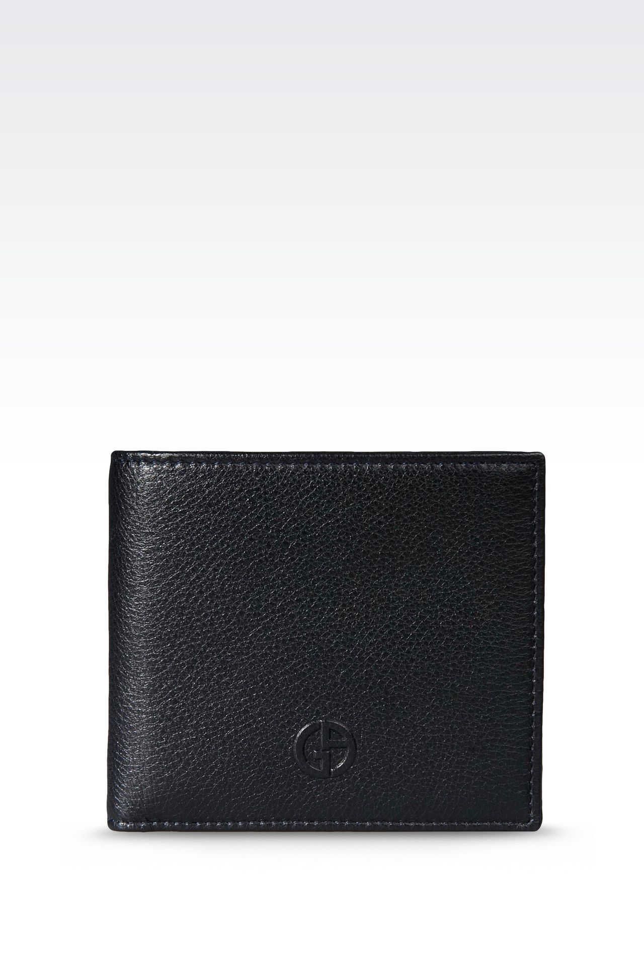 BI-FOLD WALLET IN LEATHER WITH COIN PURSE: Wallets Men by Armani - 0