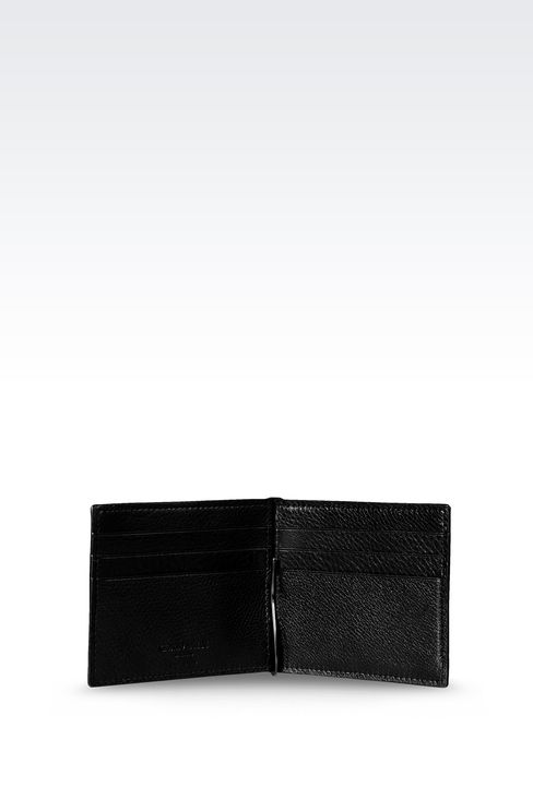 BI-FOLD CALFSKIN WALLET WITH CLIP: Wallets Men by Armani - 3