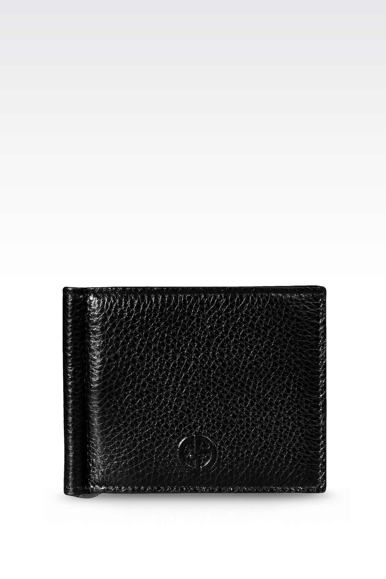 BI-FOLD CALFSKIN WALLET WITH CLIP: Wallets Men by Armani - 0