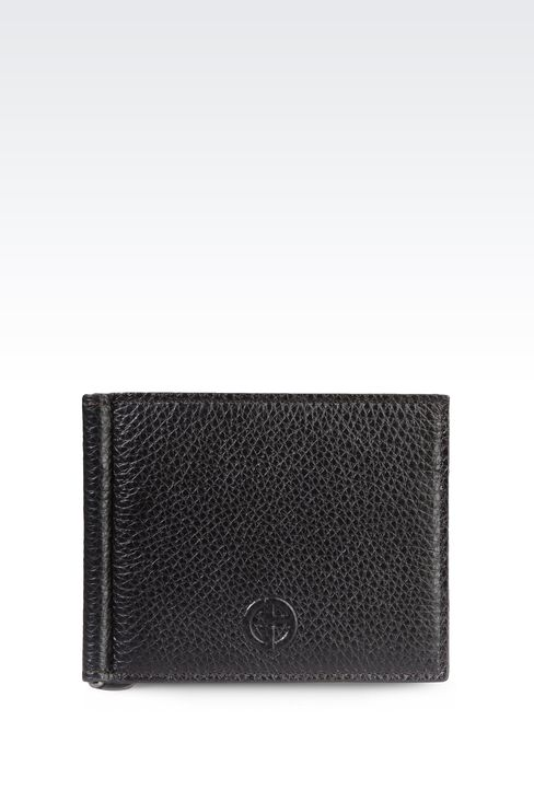 BI-FOLD CALFSKIN WALLET WITH CLIP: Wallets Men by Armani - 1