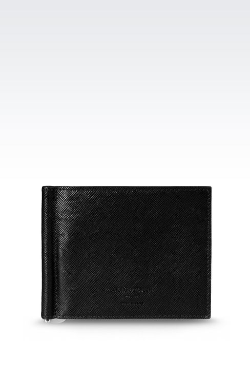BI-FOLD LEATHER WALLET WITH CLIP : Wallets Men by Armani - 1