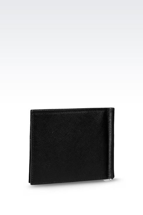 BI-FOLD LEATHER WALLET WITH CLIP : Wallets Men by Armani - 2