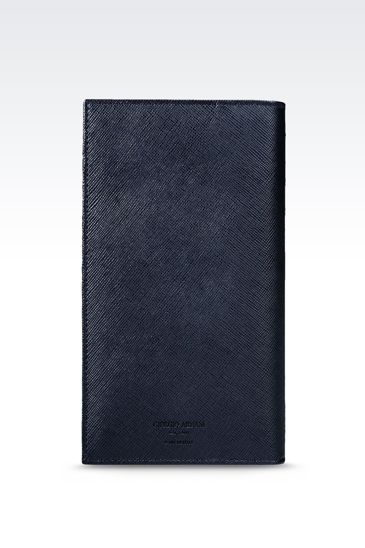 YEN LEATHER WALLET : Wallets Men by Armani - 0