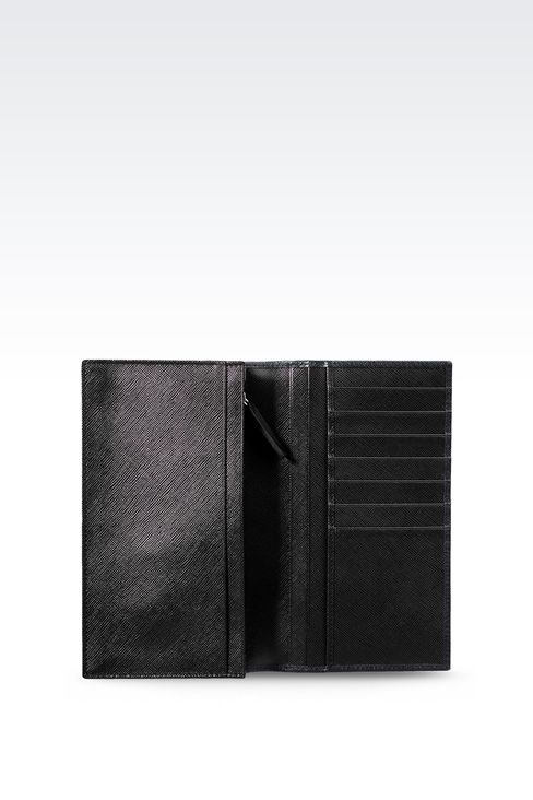 YEN LEATHER WALLET : Wallets Men by Armani - 3