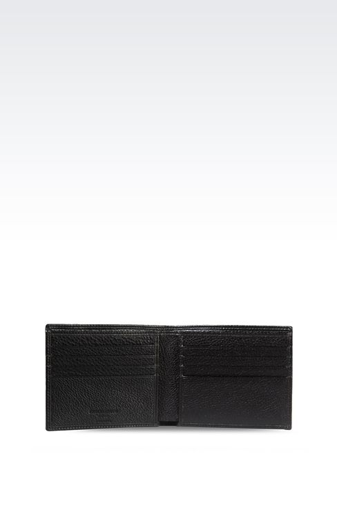BI-FOLD WALLET IN TUMBLED CALFSKIN: Wallets Men by Armani - 3