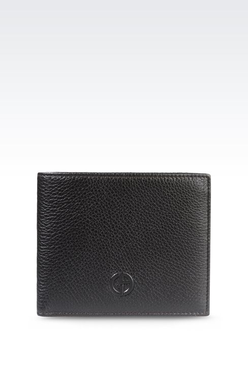 BI-FOLD WALLET IN TUMBLED CALFSKIN: Wallets Men by Armani - 1