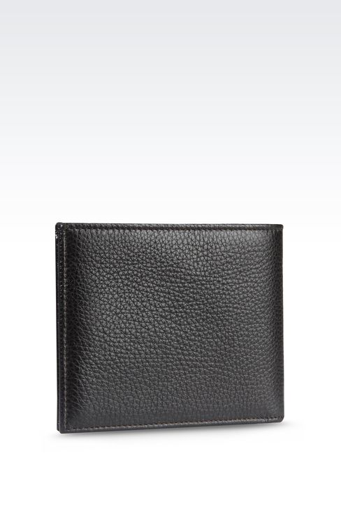 BI-FOLD WALLET IN TUMBLED CALFSKIN: Wallets Men by Armani - 2