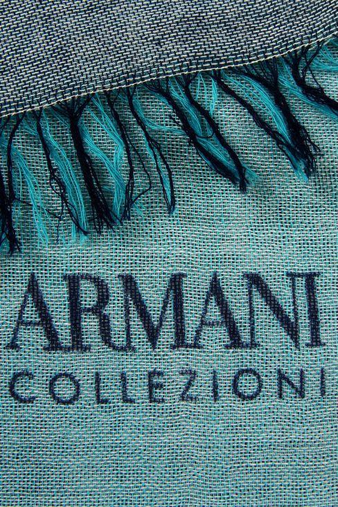 MULTICOLOUR STRIPED COTTON STOLE: Stoles Women by Armani - 3