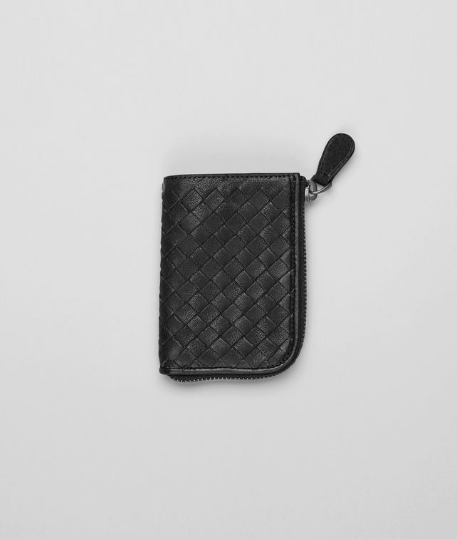 Nero Intrecciato Washed Lambskin Key Case