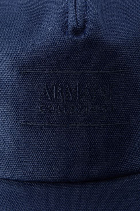 COTTON BASEBALL CAP WITH EMBROIDERED LOGO: Hats with visor Men by Armani - 3