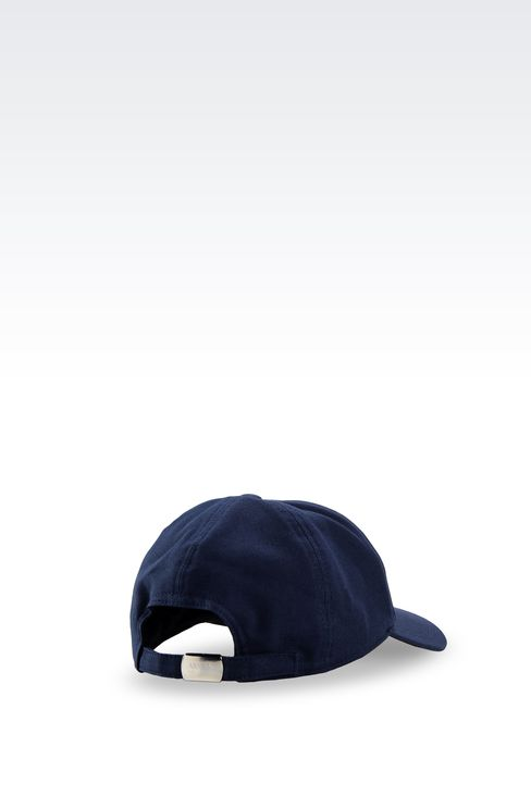 COTTON BASEBALL CAP WITH EMBROIDERED LOGO: Hats with visor Men by Armani - 2