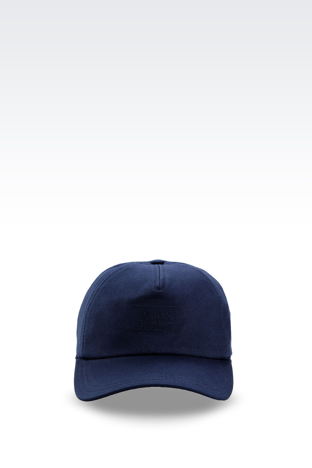 COTTON BASEBALL CAP WITH EMBROIDERED LOGO: Hats with visor Men by Armani - 0