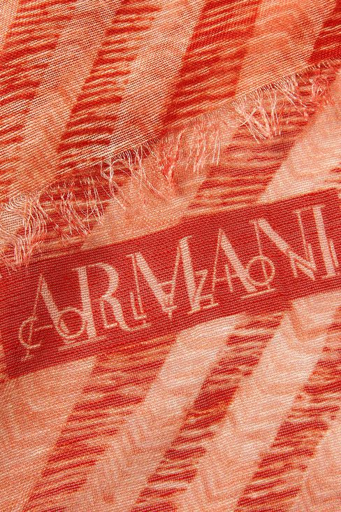TWO-TONE STRIPED STOLE: Scarves Men by Armani - 3