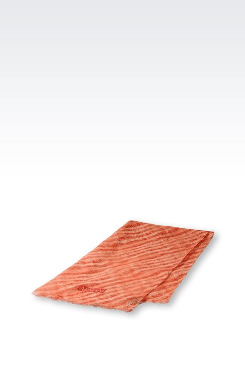 TWO-TONE STRIPED STOLE: Scarves Men by Armani - 2