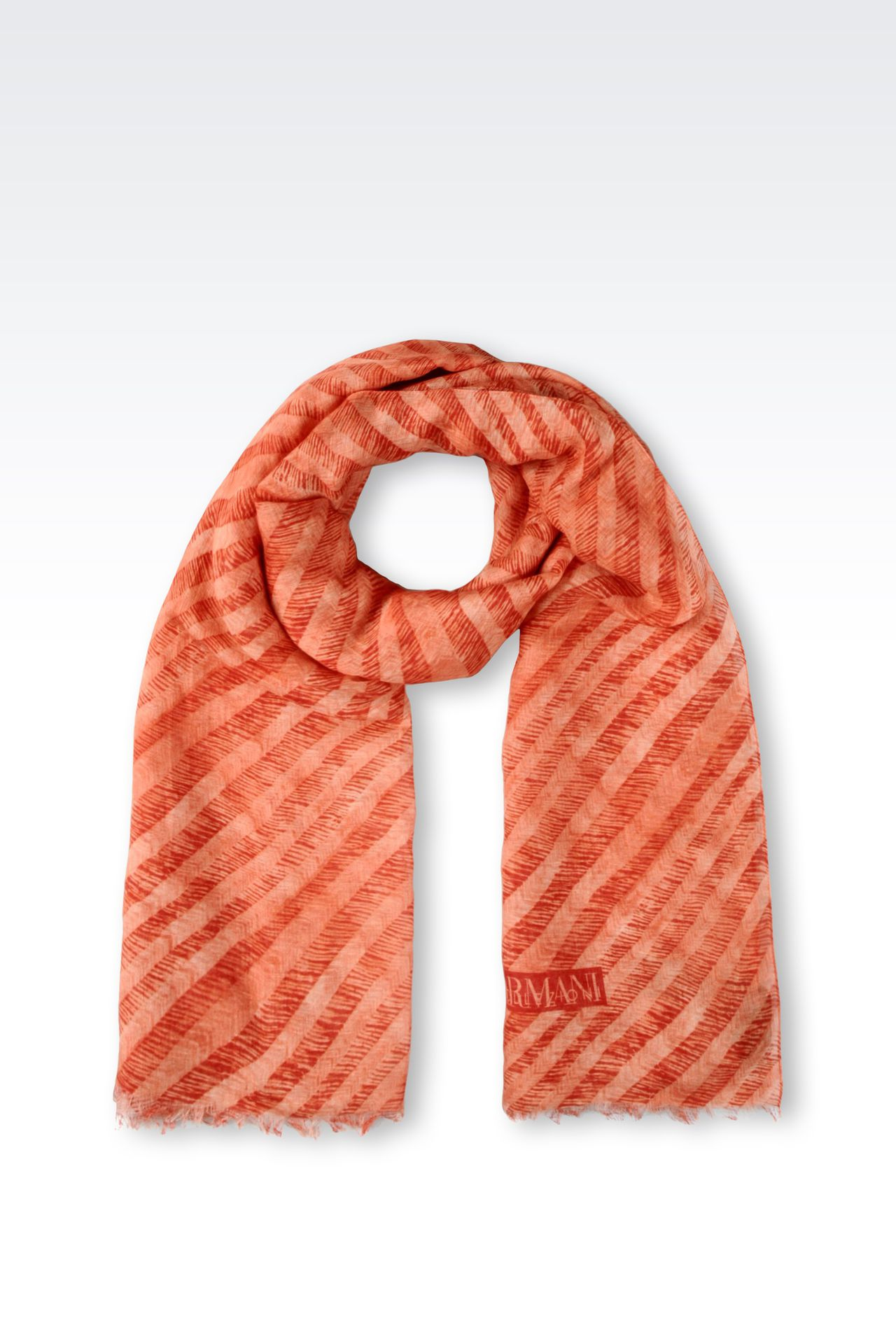 TWO-TONE STRIPED STOLE: Scarves Men by Armani - 0