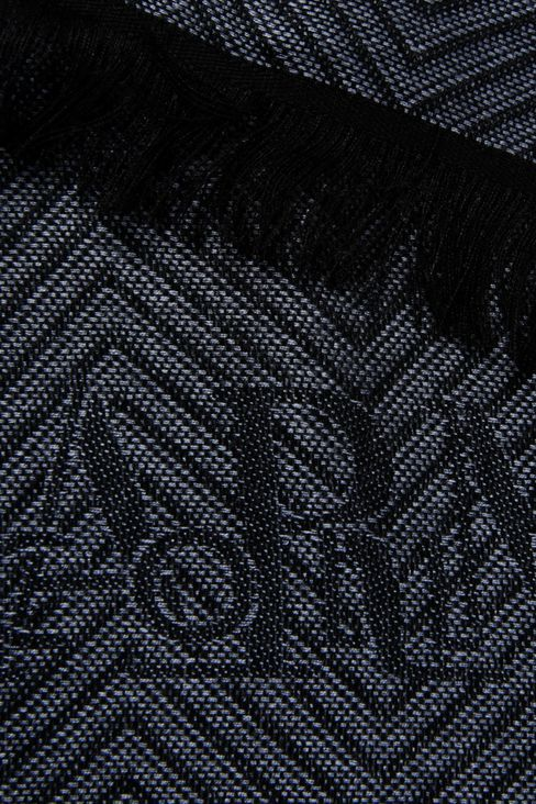 JACQUARD VISCOSE SCARF WITH CHEVRON DESIGN: Scarves Men by Armani - 3
