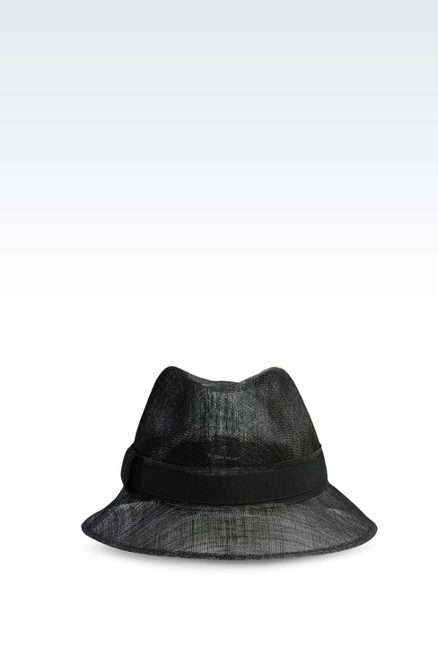 NARROW-BRIMMED STRAW HAT: Hats Women by Armani - 1